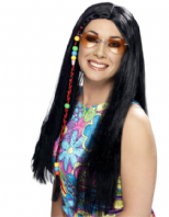 Hippy Party Wig - Blonde or Black
